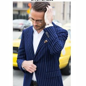 Brooks Brothers Navy Pin Striped Sport Coat